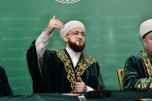 Re-elected mufti of RT Kamil hazrat Samigullin answered the questions of journalists