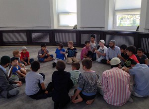 For blind children is held a children's Muslim camp on the Quran memorization