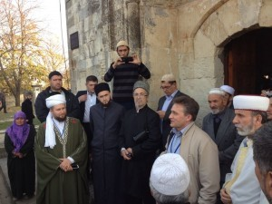 Mufti of Tatarstan got acquainted with complex of Khan Uzbek's mosque and Indzhibek Khatun in Old Crimea